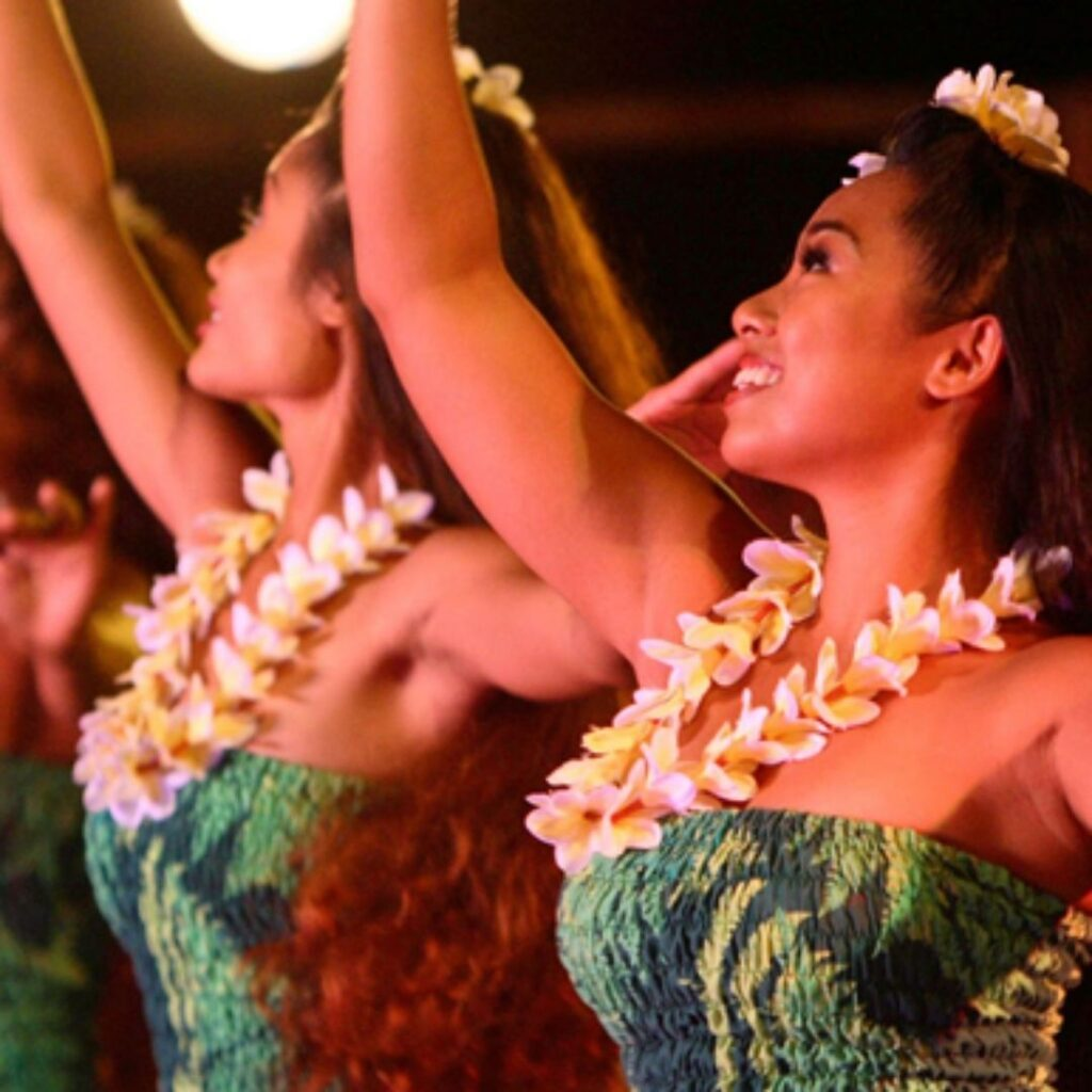 Germaines Luau Dancers at one of the best luaus in Hawaii